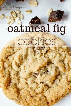 A twist on traditional oatmeal raisin, these Oatmeal Fig Cookies have an unexpected chewy, fruity pop of dried figs. This is an easy oatmeal cookie recipe. Cookie Desserts, Just Desserts, Cookie Recipes, Dessert Recipes, Pancake Recipes, Cookie Favors, Fig Cookies, Yummy Cookies, Cookies Soft