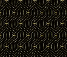Gold Honey Comb Home fabric by swissette on Spoonflower - custom fabric Japanese Embroidery, Embroidery Kits, Machine Embroidery, Honeycomb Pattern, Fabric Patterns, Custom Fabric, Spoonflower, Diy Bedroom Decor, Printing On Fabric