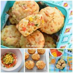 Yummy rainbow vegetable savoury muffins recipe - fun and healthy kid friendly picnic food idea from Eats Amazing UK Veggie Muffins, Savory Muffins, Savory Breakfast, Muffin Recipes, Baby Food Recipes, Picnic Recipes, Picnic Food Kids, Healthy Picnic Foods, Instant Pot