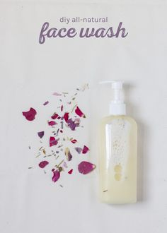 Make your own 100% natural face wash! This face wash is pretty fantastic and, unlike big-brand cleansers, it contains no harsh surfactants, so it doesn't strip away our skin's natural oil. Rather, the jojoba oil and castile soap combine to gently remove dirt without drying out your face. It's perfect for those with sensitive or problem skin, dry or oily. The recipe comes straight from my eBook.