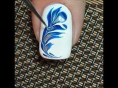 25 Marble Nail Design with Water & Nail Polish 2 25 Marmornagel Design mit Wasser & Nagellack 2 Marble Nail Designs, Marble Nail Art, Simple Nail Art Designs, Toe Nail Art, Nail Art Diy, Easy Nail Art, Nail Nail, Youtube Nail Art, Youtube Youtube