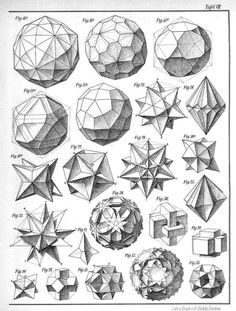 Beading_ Use for Beaded Beads __ Geometry___ Max Bruckner 1906 polyhedra & icosahedron models 3d Templates, Doodle Drawing, Sacred Geometry Symbols, How To Draw Sacred Geometry, Geometric Drawing, Math Art, Geometric Designs, 3d Geometric Shapes, Geometric Artists