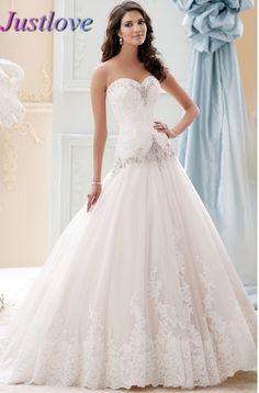 Crystal A Line Wedding Dress 2016