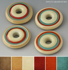 Art Bead Palette :: Indian Creek Art Glass via Art Bead Scene [Love this Southwestern palette]