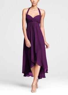 Crinkle Chiffon High Low Halter Bridesmaid Dress Plum David's Bridal,http://www.amazon.com/dp/B00EAN92Y8/ref=cm_sw_r_pi_dp_u67gsb0JJ0B2C3FP