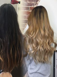 Transformation: blonde balayage by Nikki Tran @artisinalhaircompany in Frederick, MD. At home care: Restore.Me treatment by Kevin.Murphy  #arthairco #haircolor #hairsalon #hairstylist #balayage #blonde #blondehair #hair #transformation #newhair #hairideas #frederickmd #hairsaonmd