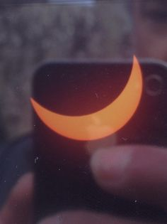 Photo of my camera screen with the eclipse