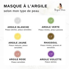 Masque à l'argile selon mon type de peau Beauty Care, Diy Beauty, Beauty Hacks, Homemade Cosmetics, Take Care Of Your Body, Health And Beauty Tips, Natural Cosmetics, Skin Care, Pinterest Account