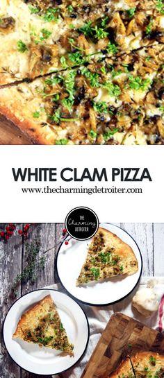 white clam pizza white clam pizza delicious plump clams on a pizza ...