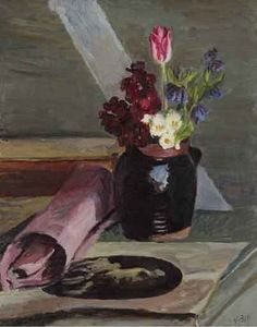 *  Still Life of Flowers in Jug, 1948-50 Vanessa Bell