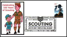 FDCO Exclusive First Day Covers. Honoring 100 Years of Scouting. The cachet (image) was made on a computer and printed on high-quality photo paper and attached to the envelope. The scan doesn't do the first day cover justice, colors are bright and picture is very sharp like on a photograph. ARE IN MINT, UNADDRESSED CONDITION.