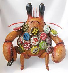 Bottle Cap Crab, www.limon-art.com
