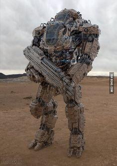 mech: I want this. Cause of reasons. Prototype mech: I want this. Cause of reasons. Robot Concept Art, Armor Concept, Gundam, Armadura Sci Fi, Image Internet, Images Star Wars, Futuristic Armour, Arte Robot, Mekka