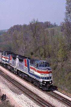 Amtrack Train In Rutledge, Missouri