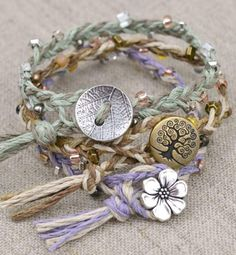 Be one with nature by making and wearing these adorable hemp bracelets.