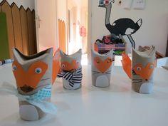 лисици от ролки за тоалетна хартия *** DIY toilet roll craft: Little Fox