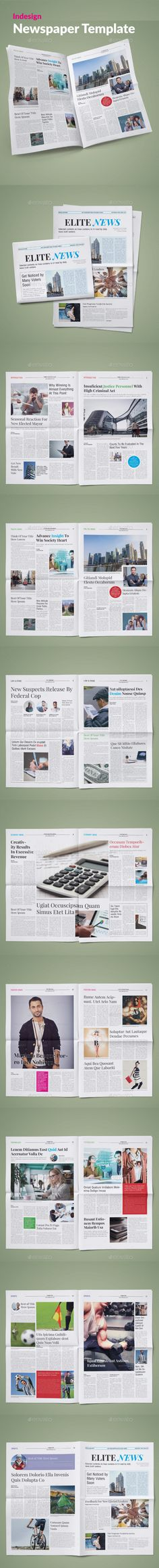 24 Pages Newspaper Newsletters Print Templates Download Here