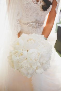 View entire slideshow: All-White Bouquets on http://www.stylemepretty.com/collection/2028/