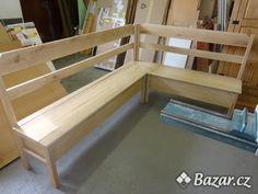 Rohová lavice dubová s úložným prostorem