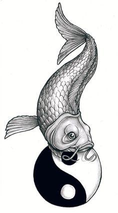 drawings of koi fish | Tattoo Design: Koi by ~tjiggotjurring on deviantART