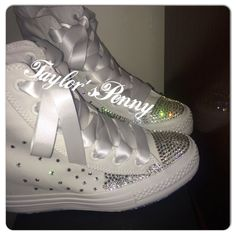 60c84875005d Bling converse crystallized with hundreds of rhinestones in many shapes. Bridesmaid  Converse