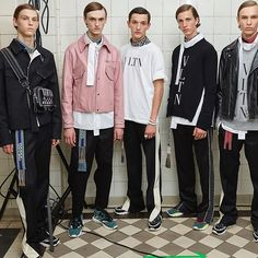 Backstage @maisonvalentino #PFWM #valentino __________________________________________ Repost @maisonvalentino - The track jacket the perfecto the shirt the chino and the running shoes. All the #VLTN #SS18 key elements in a backstage picture. Find out the #ValentinoMenSS18 Collection designed by #PierpaoloPiccioli on Valentino.com #linkinbio Pic by @mr_arroyo  via VOLT MAGAZINE OFFICIAL INSTAGRAM - Celebrity  Fashion  Haute Couture  Advertising  Culture  Beauty  Editorial Photography…