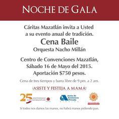 Venta de boletos también en el Mazatlán International Center y por whatsapp: 669 2022877 mayor información: (669) 9896060