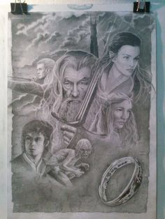 Ilustração Senhor dos Aneis o filme -Edi santos Lord of the Rings film illustration -Edi santos