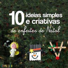 Enfeites de natal DIY - Ideias criativas de como fazer enfeites de natal no Blog #tempojunto www.tempojunto.com