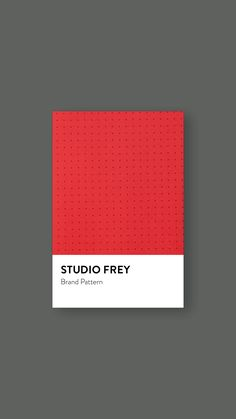 Studio Frey Pattern #branding #graphicdesign #studiofrey Mood Boards, Card Holder, Branding, Graphic Design, Studio, Pattern, Cards, Brand Management, Patterns
