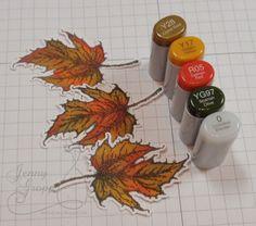 One Krafty Kat: Impression Obsession: Fall Leaves