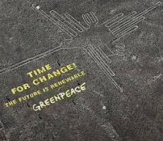 Resultado de imagem para greenpeace nazca lines before and after