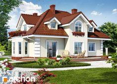 Dom w wiciokrzewie, ins Haus verschütten, Style At Home, Residential Architecture, Architecture Design, Red Roof, House Paint Exterior, Building Facade, Mediterranean Homes, Design Case, Home Fashion