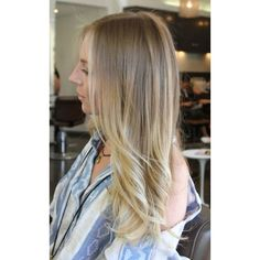 Hair / ombre hair color found on Polyvore