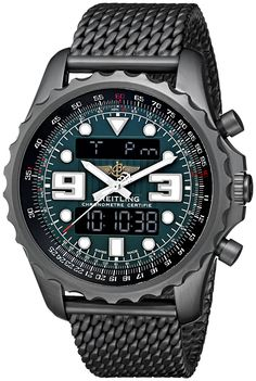 Breitling Men's M7836522-L521 Professional Chronospace Analog-Digital Display Swiss Automatic Black Watch