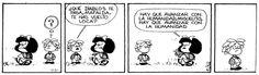 Por cierto, no podía faltar Mafalda.  (Fuente: Desde la web.)