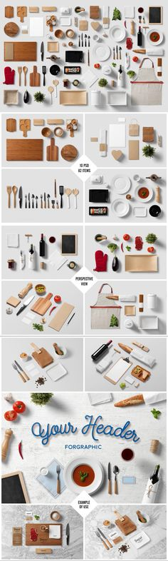 Restaurant / Food - Branding Mock-Up #kitchen #branding #mug #modern #closeup #actions #template #psd #TemplateDesign #print #string #elegant #embossing #foil #cardboard #mockup #template #TemplateDesign #bundle Web Foto, Web Design, Food Branding, Color Plan, Good Presentation, Photoshop Elements, Photoshop Render, Photoshop Actions, Time Design