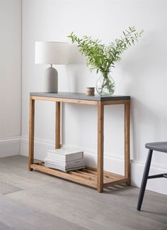 The slimline Chilson Console Table offers extra storage in the hallway living room or kitchen. The Cement Fibre and Acacia Wood material is also suitable for use outdoors too Handmade Furniture, Home Furniture, Furniture Design, Modern Wood Furniture, Automotive Furniture, Automotive Decor, Furniture Plans, Vintage Furniture, Rustic Storage Boxes