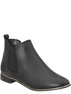 #samedelman abbie black leather ankle boots on @zappos