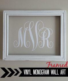 {Silhouette} Vinyl Monogram Wall Art #Silhouette #Silhouetteideas #silhouetteprojects #silhouettetutorials #DIY #Monogram #Decorp