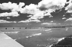 Big Clouds Over Lake Michigan - Black and White Original Photography by Patrick Malon