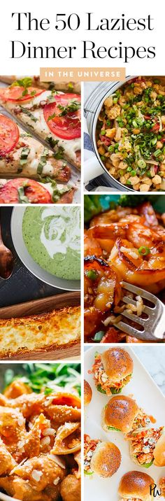 The 50 Laziest Dinner Recipes in the Universe #purewow #cooking #easy #recipe #dinner #under 30 minutes #food #healthy