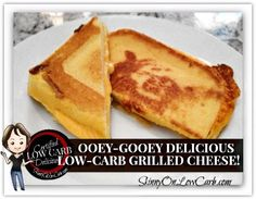 Ooey-Gooey Delicious Low Carb Grilled Cheese Recipe Lunch and Snacks with large eggs water coconut flour butter baking powder cheese sliced tomatoes cooked bacon softened butter sandwiches No Carb Recipes, Atkins Recipes, Cooking Recipes, Cheese Recipes, Coconut Flour Recipes Low Carb, Bread Recipes, Healthy Recipes, Low Carb Sandwiches, Tapas