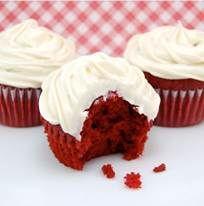 Recept bloedrode Red Velvet cupcakes