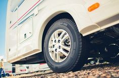 Buy New Tires For RV Camper Van by duallogic on PhotoDune. New Tires For RV Camper Van. Taking Care of Motorhome and Travel Trailer Tires. Rv Campers, Camper Van, Travel Trailer Tires, Luxury Rv Resorts, Reuse Old Tires, Reuse Recycle, Recycling, Rv Tires, Rv Financing