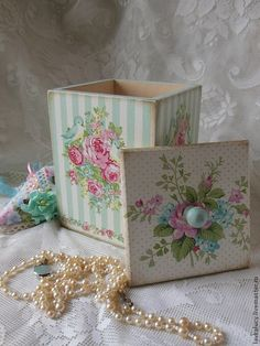 "Baskets, boxes handmade.  Fair Masters - handmade.  Buy Box ""Mint Spring"".  Handmade.  Box, mint, bedroom"