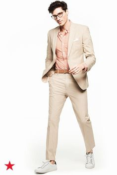 This Tommy Hilfiger twain check button down adds a bold pop of color to your classic khaki suit. Shop now at macys.com.