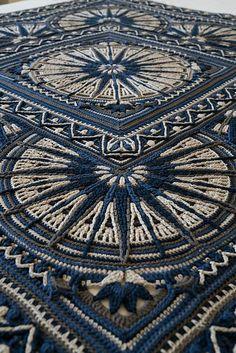 Henry's Designer Blanket Free Crochet Pattern (Free Crochet Patterns) Motif Mandala Crochet, Mandala Blanket, Crochet Motifs, Crochet Stitches, Knit Crochet, Crochet Owls, Crochet Animals, Crochet Humor, Crochet Food