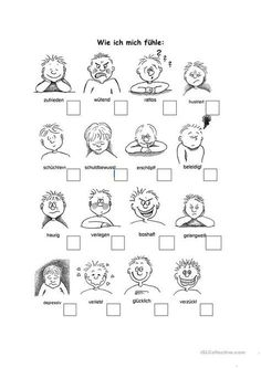 How I Feel Worksheet – Free DAF Worksheets You are in the right place about early childhood Education Here we Early Childhood Education, Elementary Education, Early Intervention Program, Activities For 2 Year Olds, German Language Learning, Reading Games, Free Printable Worksheets, Kindergarten Worksheets, Educational Activities
