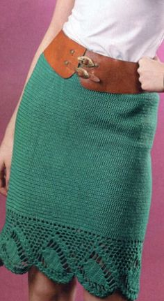 "The model is taken from the skirts of ""knit crochet"" № 6/2012 skirt with lace trim associated hook number 3 of 400 g of yarn (100% acrylic, 450 m/100 g). Size 44-46. scheme knitting crochet skirt"